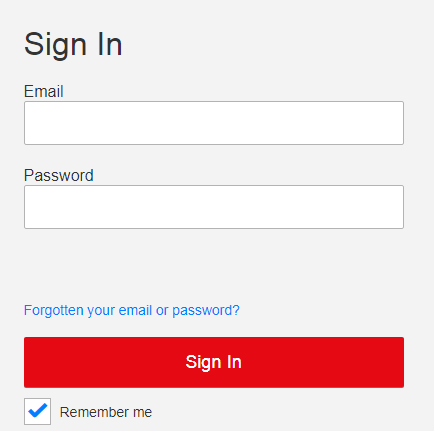 Netflix Login steps Image
